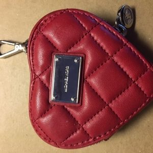 Cherry Red Michael Kors Heart Shaped Coin Purse